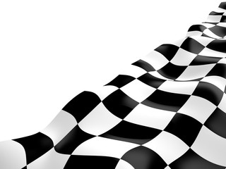 Checkered flag, 3D