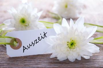 Label with Auszeit