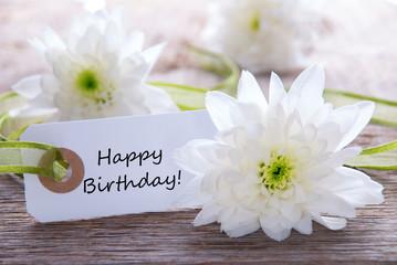 Label with Happy Birthday