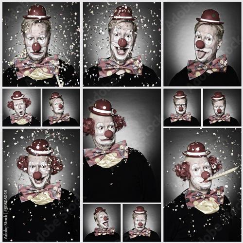 canvas print picture Clown
