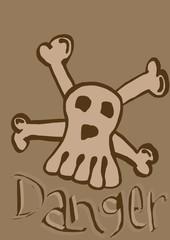 danger skull vintage