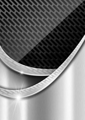 Metal Background with Metal Grid