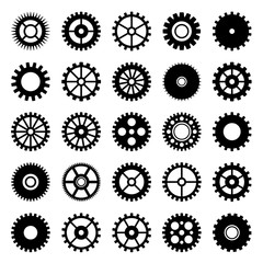 Gear wheel icons set 1