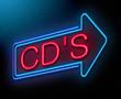 Compact disc concept.