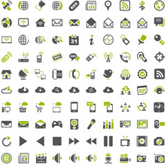 Top Green Grey Icons - Entertainment Social Media Communication