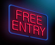 Free entry concept.