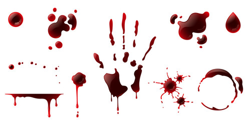 Blood stain set