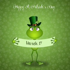 Green frog in St.Patrick's Day