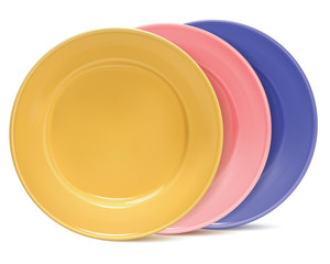Clean plates, isolated. Vector illustration