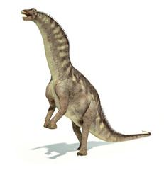 Photorealistic representation of an Amargasaurus dinosaur. Dynam