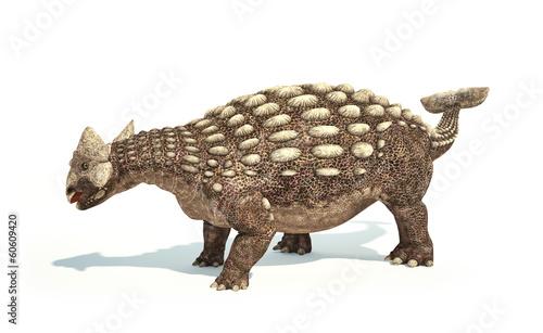 Ankylosaurus Dinosaur photorealistic representation. Dynamic pos - 60609420