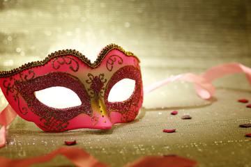Vintage pink carnival mask