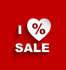 paper I Love Sale background