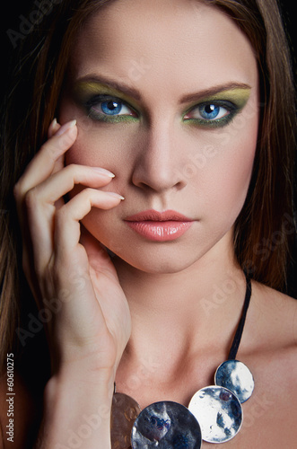 Fashion Beauty Girl. Gorgeous Woman Portrait.