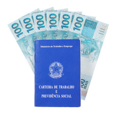 Brazilian document work and social security, six hundred reais