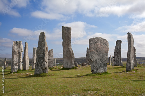 Callanish standing stones . Isle of Lewis, Scotland.