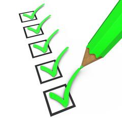 Checkliste - Stift