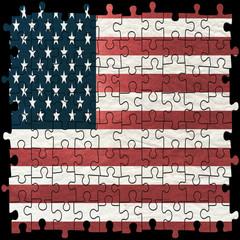 America Flag Puzzle