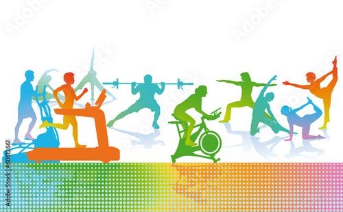 Fototapeta Fitness und Sport