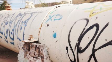Industrial Pipe Graffiti Dolly