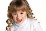 close-up portrait of a little girl
