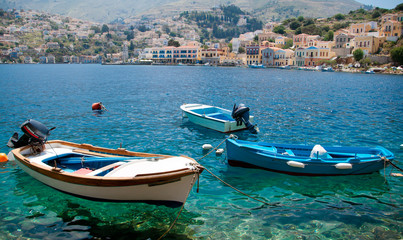 Picturesque island of Symi, Greece