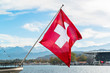 Switzerland waving flag