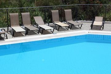 Hotel swimming pool in Crete