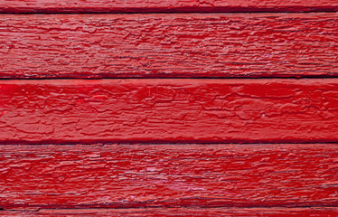 Red old painted wood panels