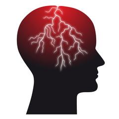 Abstrakte Darstellung für Kopfschmerzen - Vektor/freigestellt