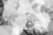 Black and white abstract background shiny polygon