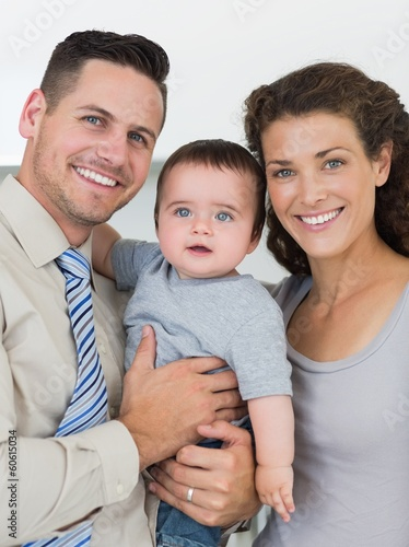 Loving parents with baby boy
