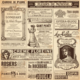 background/patterns made of vintage french ads on ladies' topics - 60615216