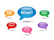 QUESTIONS SPEECH BALLOONS (what where when who why how bubbles)