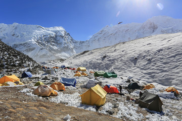 island peak basecamp from everest trek nepal