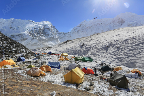 Fotobehang Nepal island peak basecamp from everest trek nepal