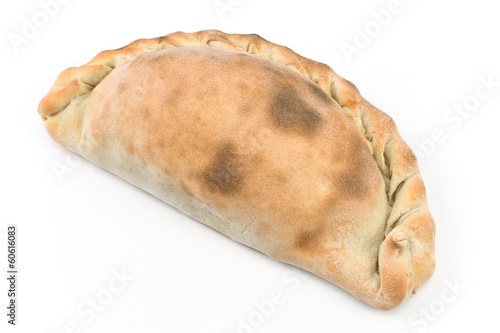 Traditional cornish pasty isolated on white