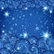 Dark blue frame with starry skies
