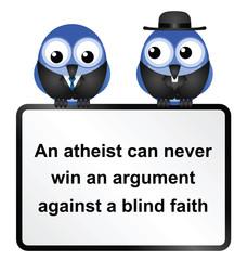 Atheist adage sign