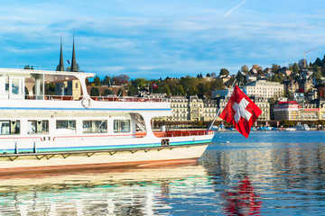 Cruiser ship  Lucerne lake, Switzerland