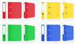folder colors binder metal rings for office vector illustration