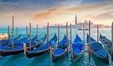 gondolas at dusk - 60617493