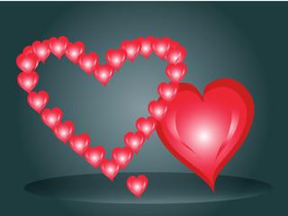 Три сердца в день Святого Валентина Day1