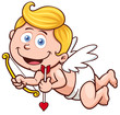 Vector illustration of a Valentine's Day cupid