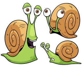 Vector illustration of Snail cartoon