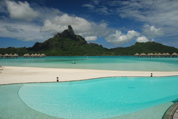 Tropical resort. Bora Bora, French Polynesia