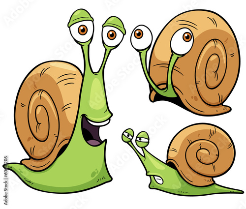 Fototapeta Vector illustration of Snail cartoon