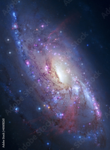 Deurstickers Heelal Spiral galaxy in deep space. Elements of image furnished by NASA