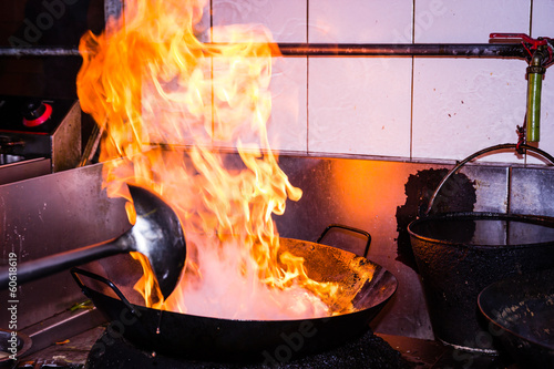 Stir fire cooking - 60618619