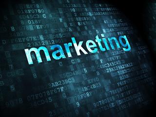 Advertising concept: Marketing on digital background